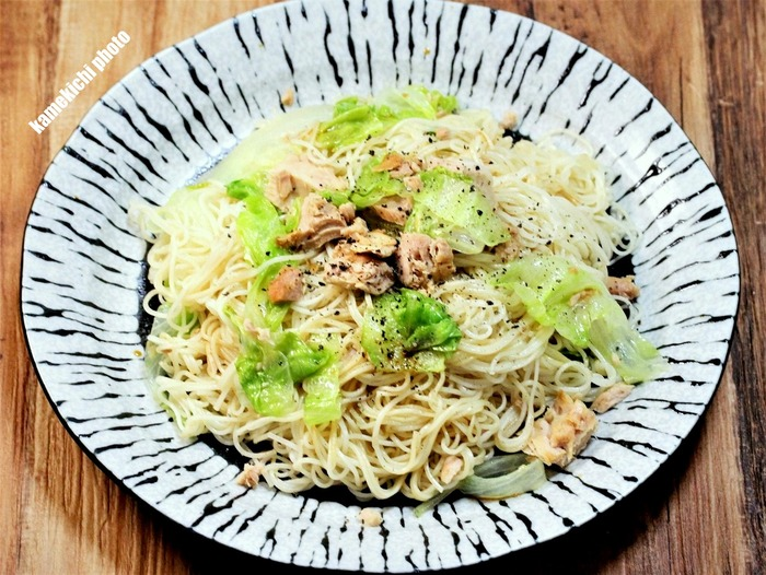 s-ツナとレタスの素麺炒め2