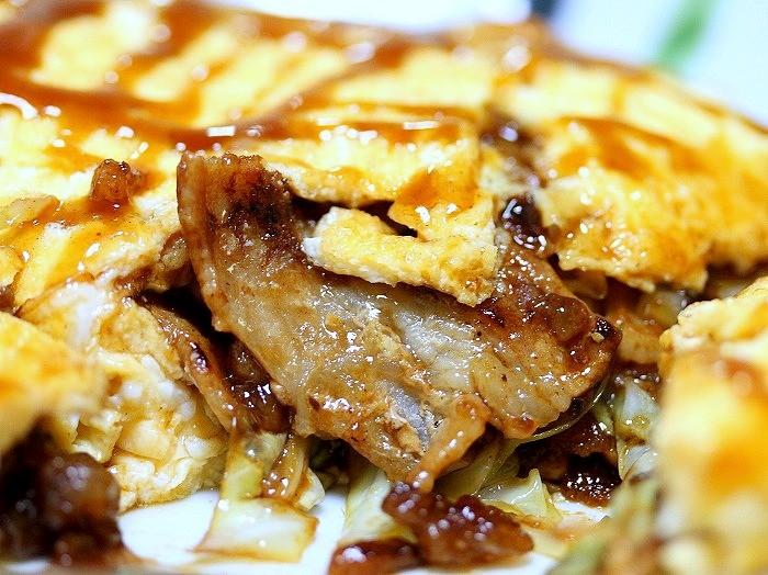 s-豚バラ肉とキャベツのオムレツ2