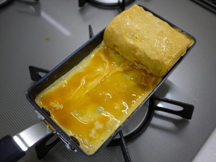 あのちっちゃ卵焼き器で厚焼き玉子6-2