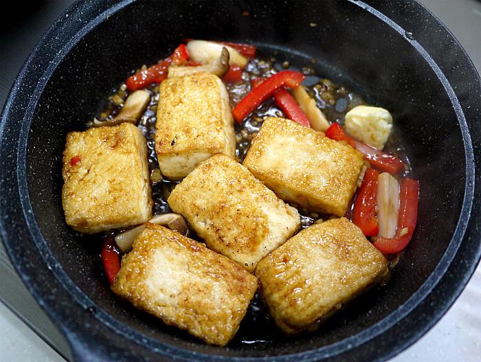 sしっかりと焼いて「豆腐ステーキ」8
