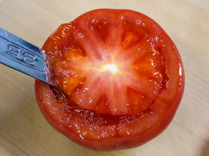 トマトのミートソース詰め焼き6-2