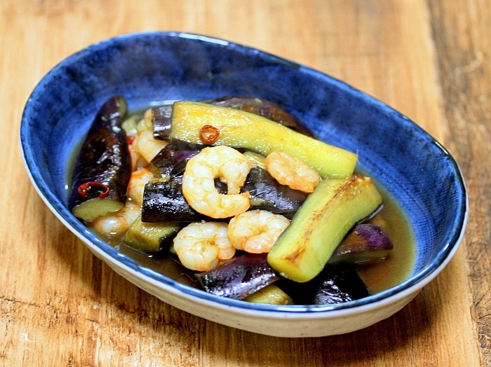 s-茄子と海老のピリッと和風煮3