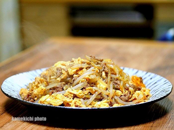 s-合い挽きひき肉の玉子炒め1