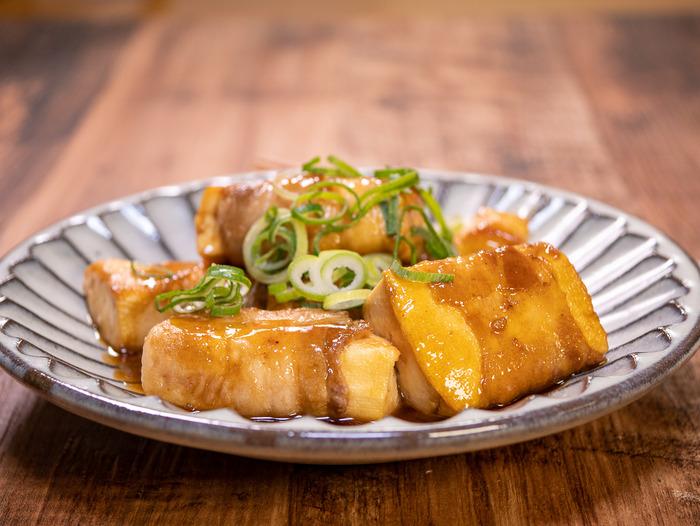 豆腐の豚肉巻き焼き2