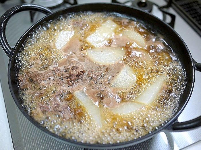s-夏大根と牛肉の煮物10