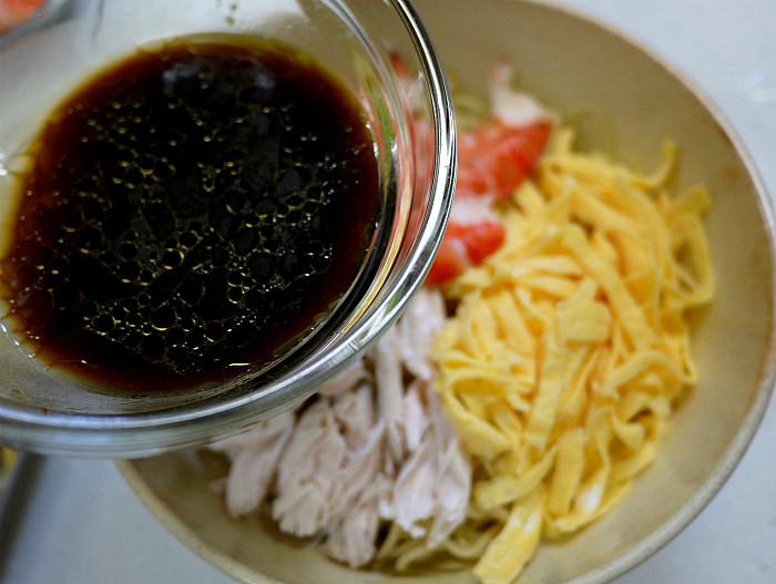 sどんぶりで食べる混ぜ混ぜ冷やし中華7