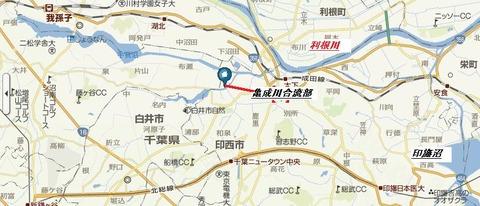 亀成川地図ヤフー