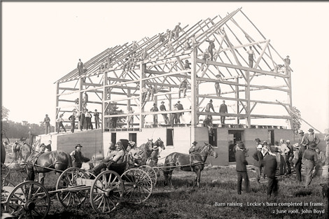 Barn_raising_-_Leckie's_bar