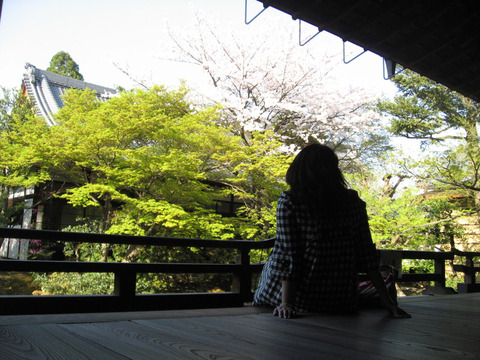 相国寺の裏庭