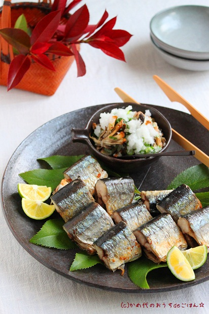 秋刀魚のごちそう塩焼き