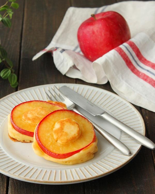 りんごリングのパンケーキ