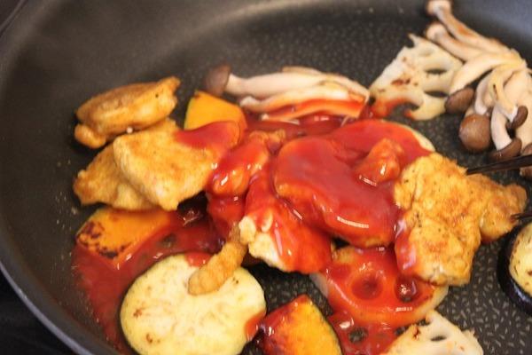 レシピ鶏と秋野菜4