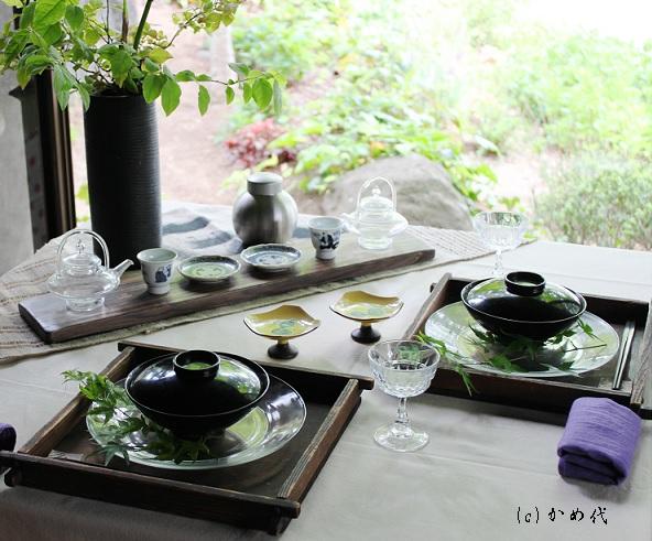 新茶を愉しむテーブル