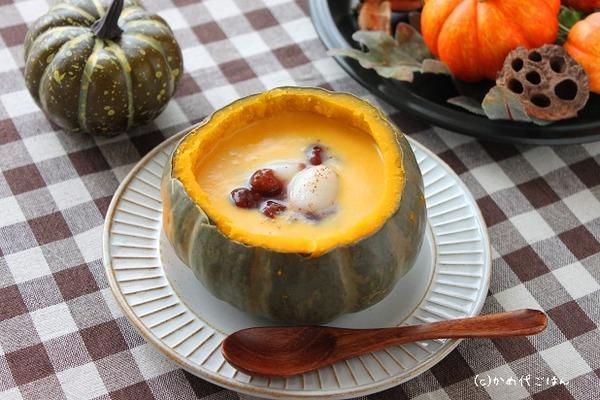 ブログかぼちゃ汁粉(横)