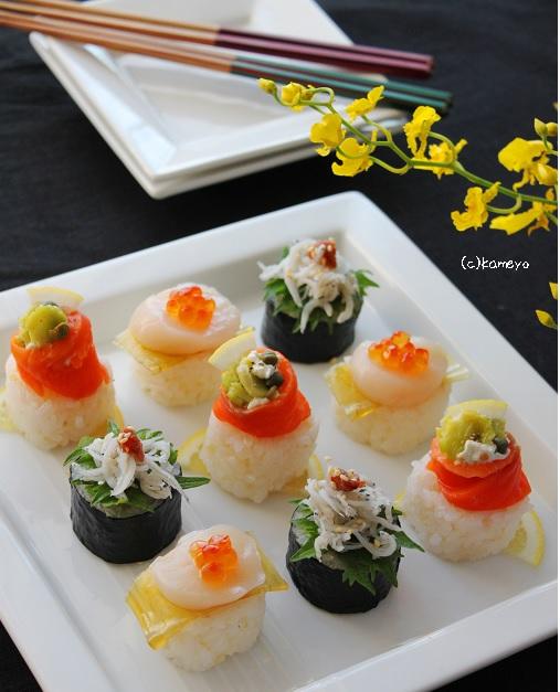 ブログカナッペ寿司