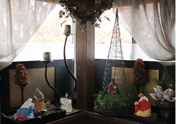 出窓のクリスマス