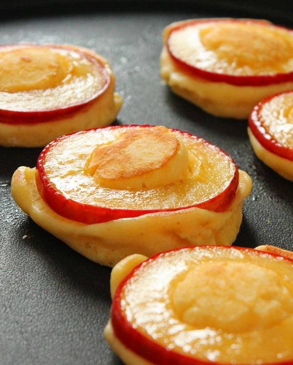 りんごリングのパンケーキ3