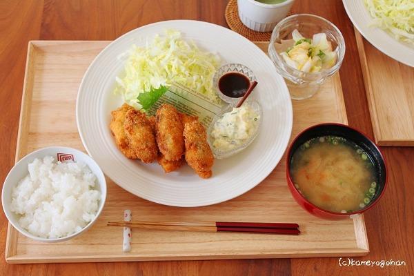牡蠣フライ定食2