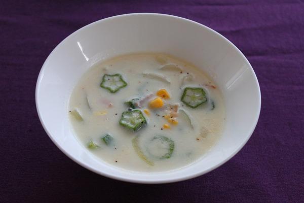 buroguオクラとコーンのポタージュスープ