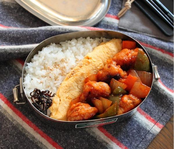 マヨオムレツと酢豚