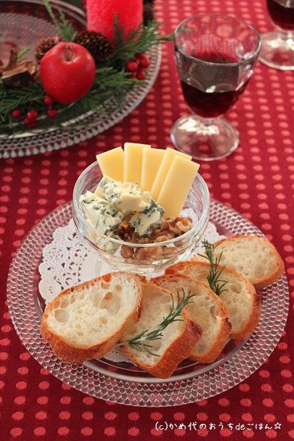 チーズプレート♪  ガラスとキャンドル