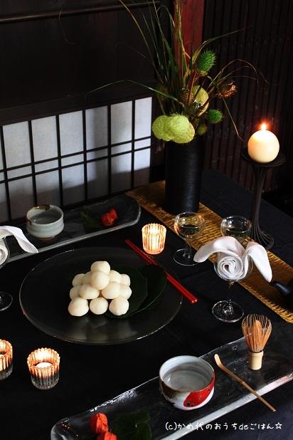 お月見のテーブル