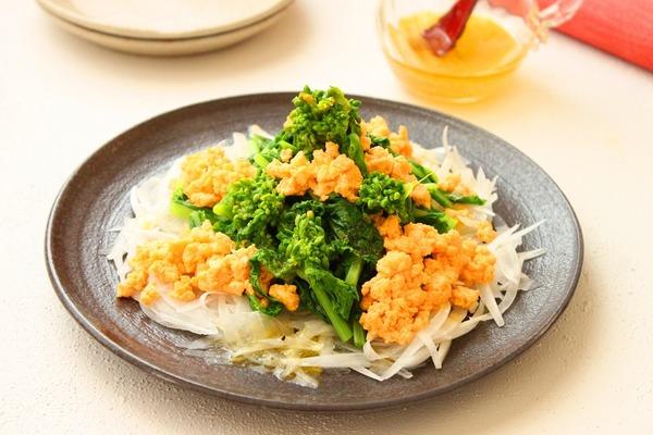 菜の花サラダ横