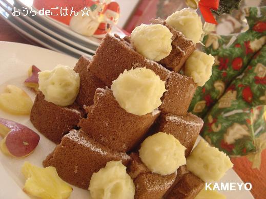 おいもボールのクリスマスケーキ♪