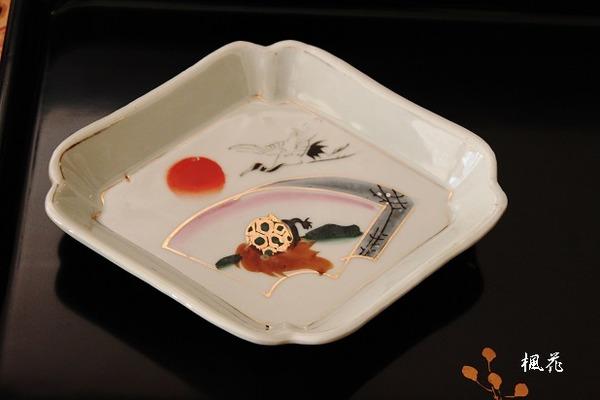 鶴亀の小皿