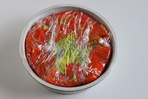 スモークサーモンとアボカドのケーキ(レシピ2)