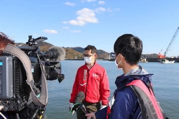 牡蠣引き揚げインタビュー