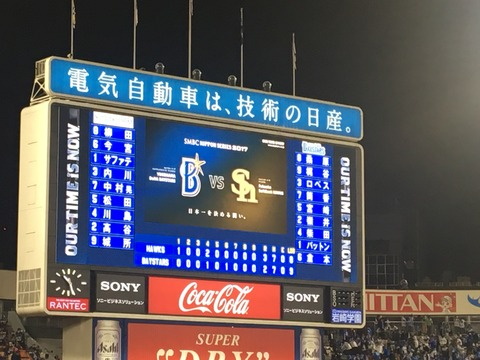 【試合結果】ベイスターズ2×3ソフトバンクホークス ロペス弾、倉本適時打もあと一点が遠くDeNA3連敗…