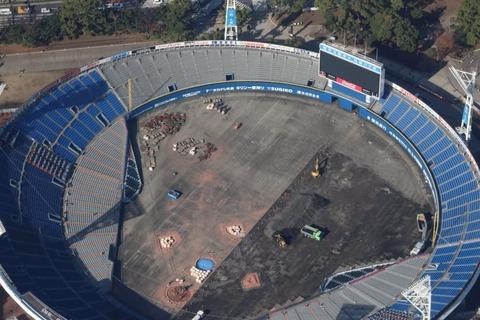 横浜スタジアム、ついに全面ブルー座席へ