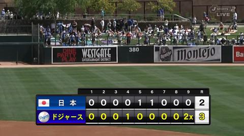 【練習試合結果】侍ジャパン2-3ドジャース 侍ジャパン逆転サヨナラ負け 松井祐樹打たれる