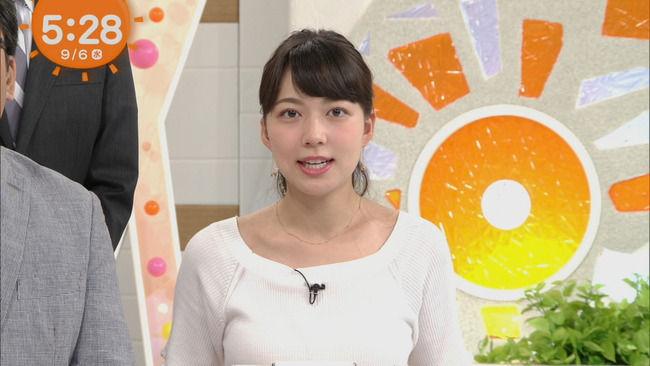 めざましお天気・阿部華也子のEカップ胸をキャプったぞww