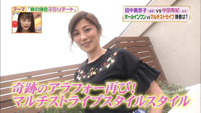 【画像】中田有紀アナがおっぱいを突き上げ過ぎてエローいwww