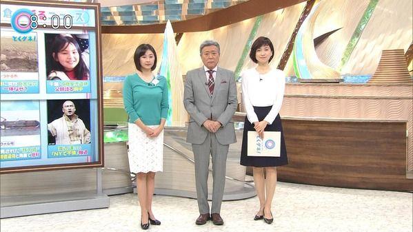 【画像】今日の梅津弥英子さんと森本さやかさん 3.30