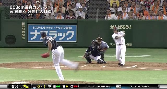 【第14号逆転3ラン】長野久義 .269 14本 54打点