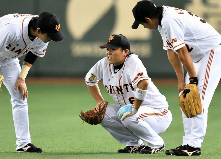 【悲報】巨人・中井大介、靭帯を損傷