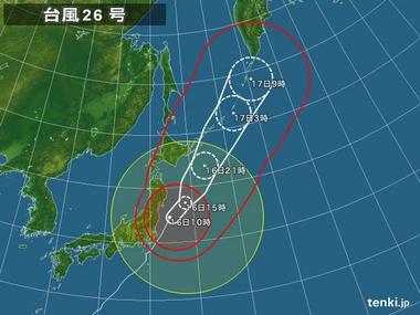 日ハム小笠原「台風26号を逸らしておいたぞ」