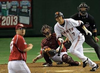 【日本シリーズ2013第4戦】長野久義・3安打5出塁2点タイムリー