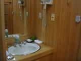 蔦温泉 貸切風呂洗面所