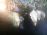 女性 大洞窟風呂 湯口4