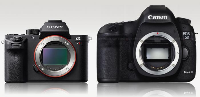 mirror-less-and-slr-camera