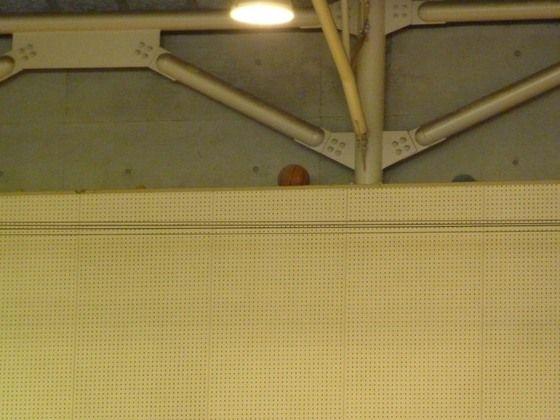 体育館の天井に挟まったボールで打線組んだ