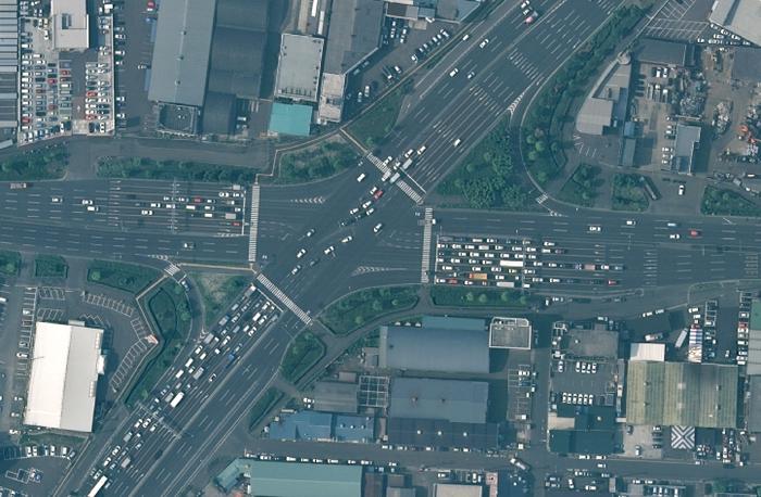 仙台にある8車線のマジキチ交差点