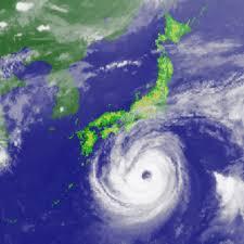 彡(^)(^)「台風が来てまして、ええ、はい・・・」