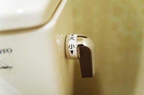 トイレで水流すレバーに大小って書いてあるけど