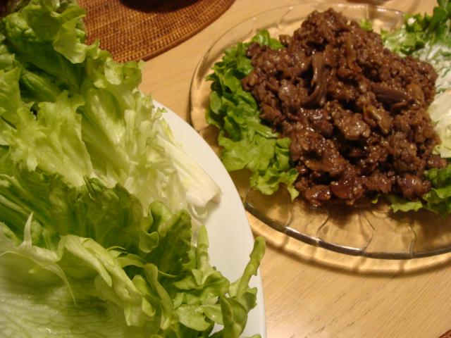 レタス 包み 牛肉