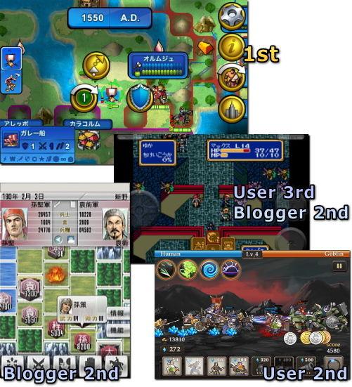 iPhone 2010年ゲーム大賞 結果発表 戦術シミュレーション